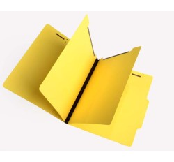 15 Pt.  Yellow Classification Folders, 2/5 Cut Top Tab, Letter, 2 Dividers (Box of 25)