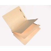 15 Pt. Manila Classification Folders, End Tab, Legal, 2 Dividers, Fasteners Pos. 1 & 3 (Box of 25)