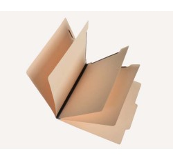 15 Pt.     Manila Classification Folders, 2/5 Cut Top Tab, Letter, 3 Dividers (Box of 15)