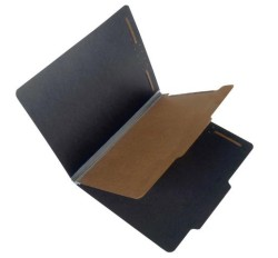 25 Pt. Fushion Black Pressboard Classification Folders, 2/5 Cut ROC Top Tab, Letter Size, 1 ...