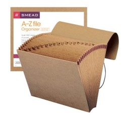 Smead 70121 Expanding File, Alphabetic (A-Z), 21 Pockets, Flap and Cord Closure, 12