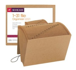 Smead 70168 Expanding File, Daily (1-31), 31 Pockets, Flap and Cord Closure, 12