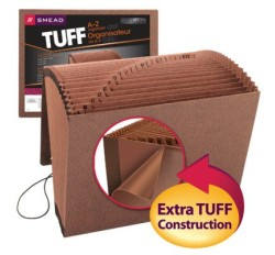 Smead 70318 TUFF Expanding File, Alphabetic (A-Z), 21 Pockets, Flap and Elastic Cord Closure...