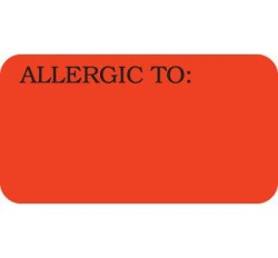 UL180 - ALLERGIC TO: - Fl Red, 1-5/8