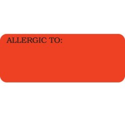 UL808 - ALLERGIC TO: - Fl Red, 2-1/4