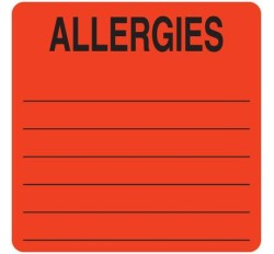 UL926 - ALLERGIES - Fl Red, 2-1/2
