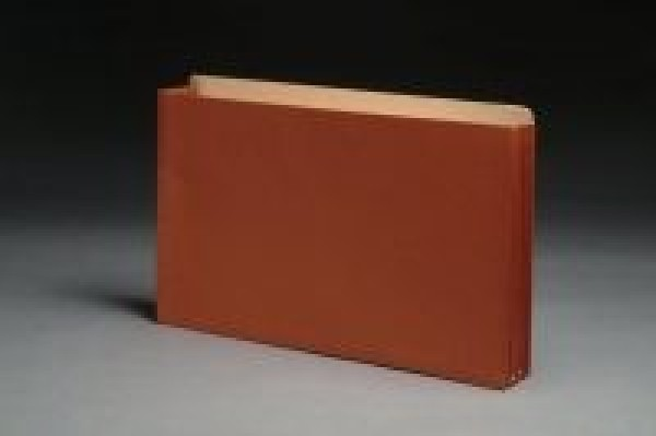 Top Tab Expanding Files, Full Height Reinforced Paper Gussets, Legal, 5-1/4