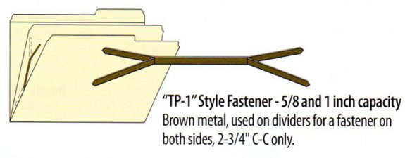 Duo Tang Fasteners for Dividers