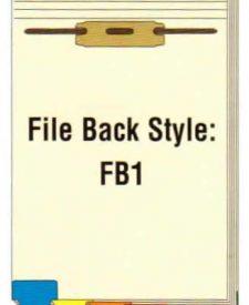 FileBack Bottom Tabs, Holes on Top