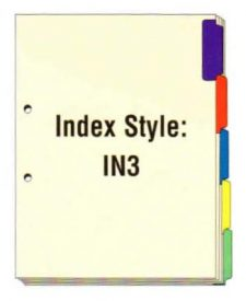 Index Side Tabs, 2 Holes on Side