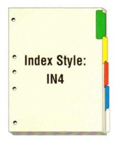 Index Side Tabs, 5 Holes on Side