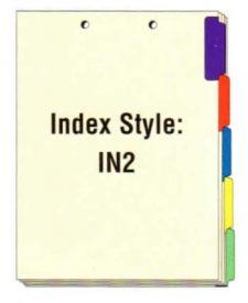 Index Side Tabs, Holes on Top