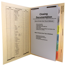 Manila Folder with Divider Set and Print