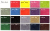 Tyvek Gusset Colors for Pressboard Folders